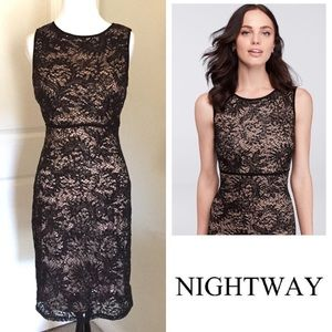 NWT Nightway Sequin Lace Dress